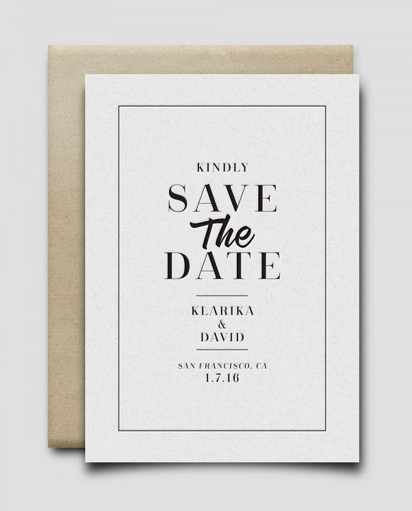 Save The Date no.3 (Vintage)