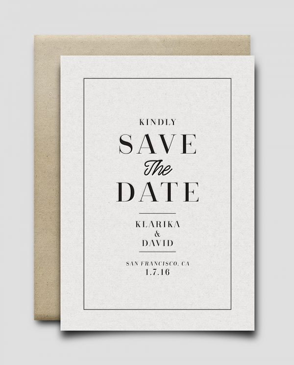 Save The Date no.2 (Vintage)